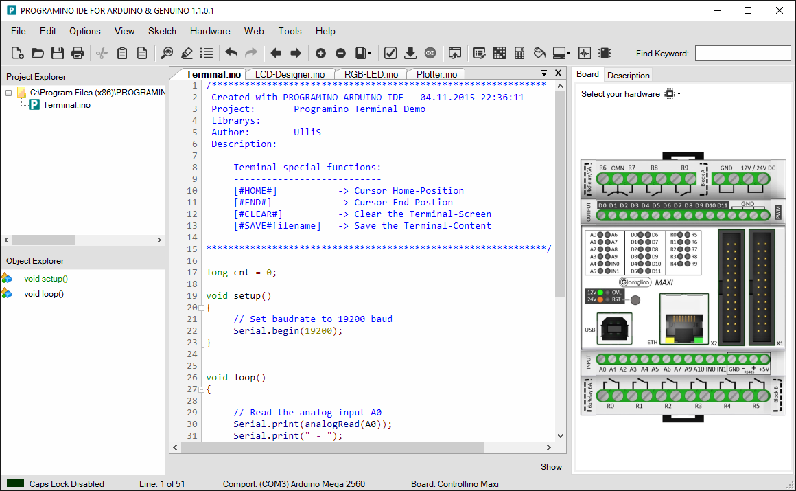 Programming Controllino Is Just One Example Of How The Ladder Logic Diagram Could Be Expanded Programino Programinocom Integrated Development Environment For Arduino Ide An