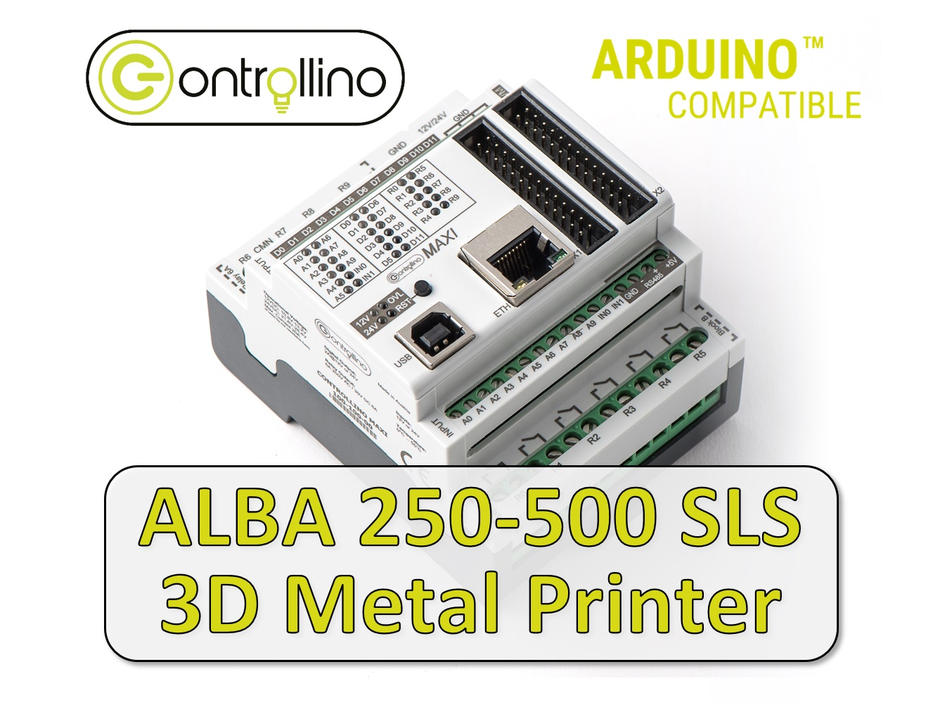 Alba 250-500 SLS 3D Metal Printer - powered by CONTROLLINO