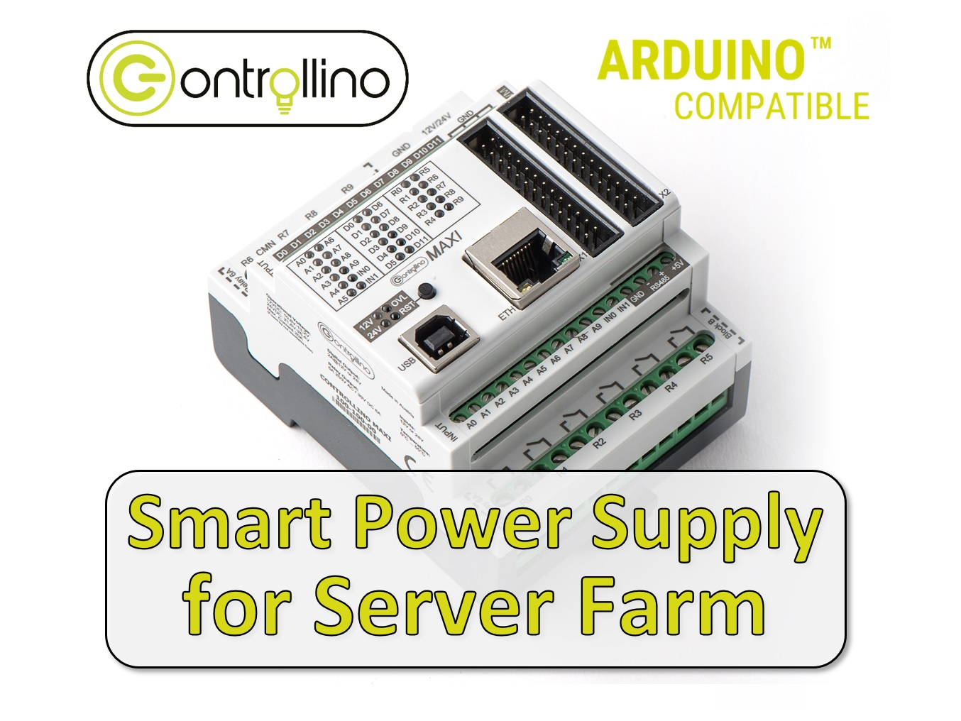 Smart Emergency Power Supply for Server Farms by SAWtronics - powered by CONTROLLINO